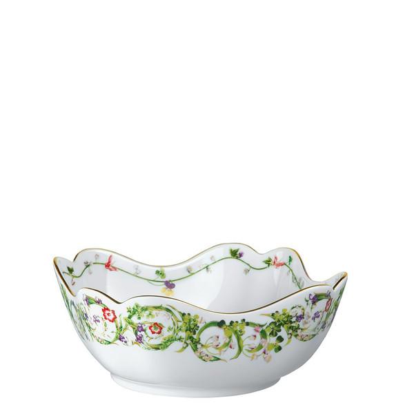 Vegetable Bowl, Open, 9 1/2 inch   Flower Fantasy