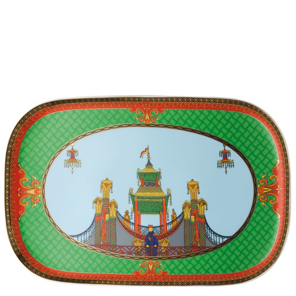Platter, 15 x 9 1/2 inch | Versace Marco Polo