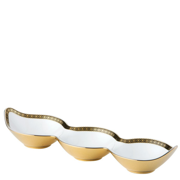 Peapod Bowl, Three, 12 1/2 x 4 inch | Versace Marco Polo