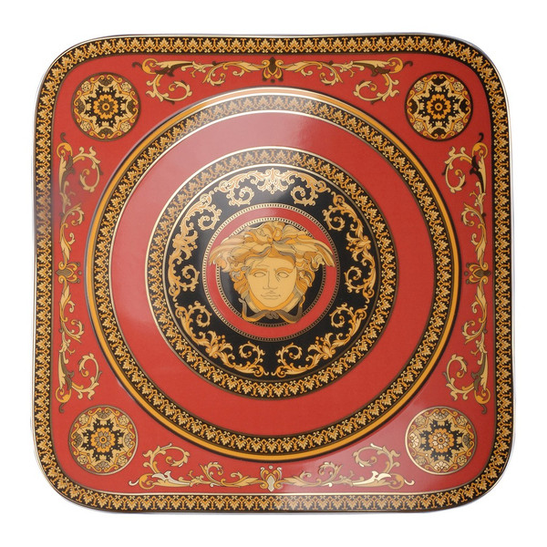 Service Plate, 13 inch | Versace Medusa Red