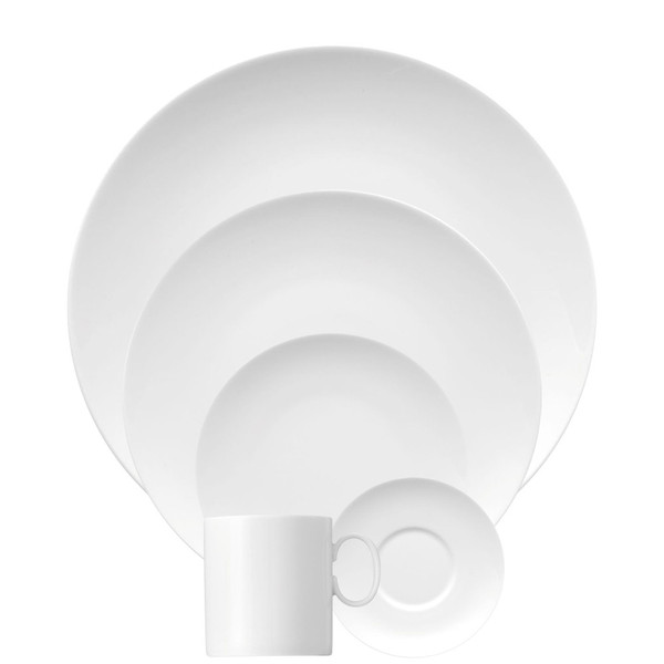 5 Piece Place Setting (5 pps) | Medaillon White