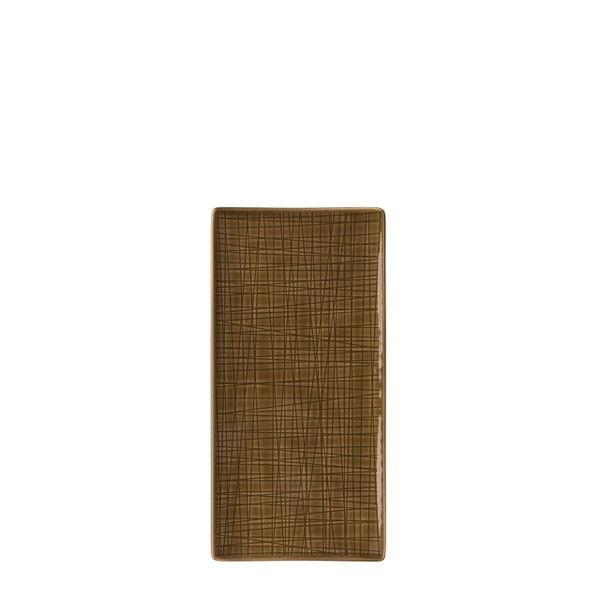 Platter flat rectangular, 10 1/4 x 5 inch | Mesh Walnut