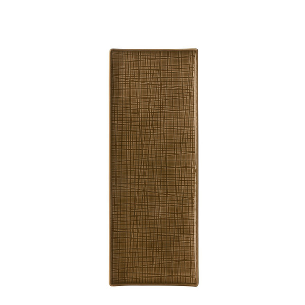 Platter flat rectangular, 13 1/2 x 5 inch | Mesh Walnut