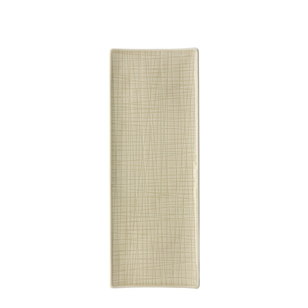 Platter flat rectangular, 13 1/2 x 5 inch | Mesh Cream