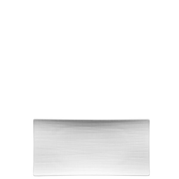 Platter flat rectangular, 10 1/4 inch | Mesh White