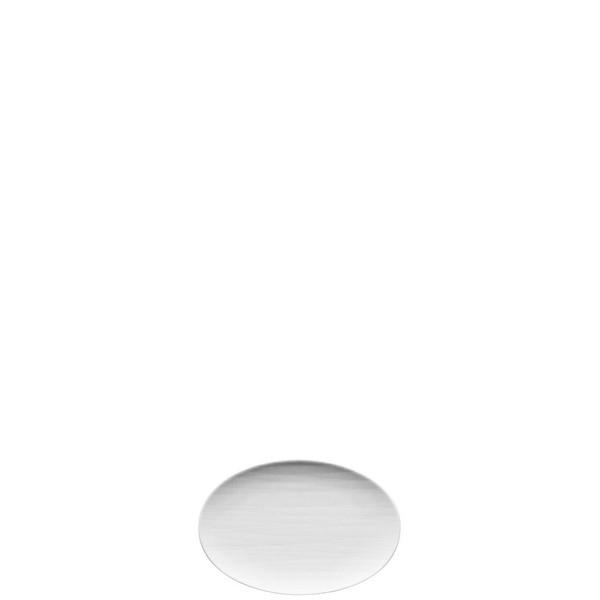Platter flat oval, 7 inch | Mesh White