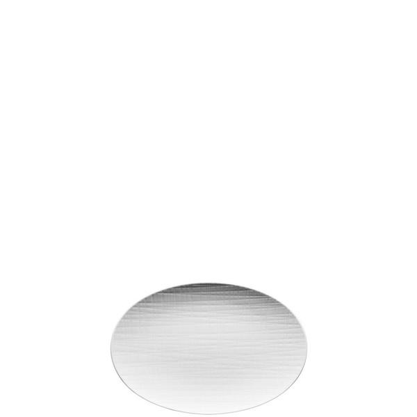 Platter flat oval, 9 7/8 inch | Mesh White