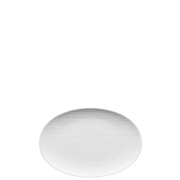 Platter flat oval, 11 3/4 inch | Mesh White