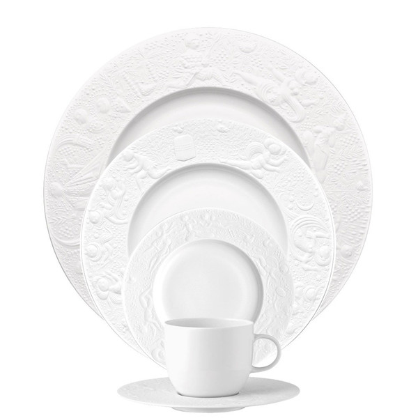 5 Piece Place Setting (5 pps) | Magic Flute White