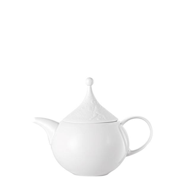 Tea Pot, 39 ounce   Rosenthal Magic Flute White
