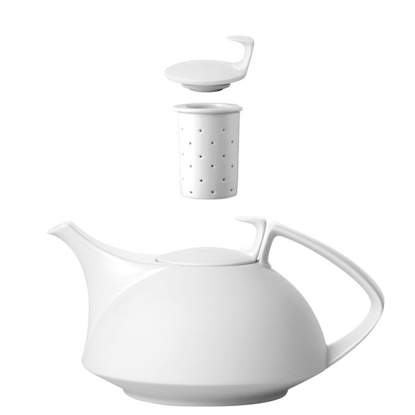 Tea Pot, 4-pc Set, 45 ounce | Rosenthal TAC 02 Skin Silhouette