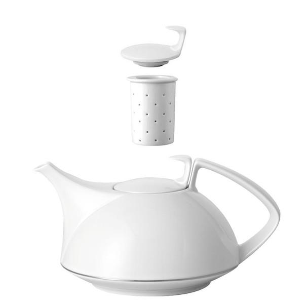 Tea Pot, 4-pc Set, 45 ounce | Rosenthal TAC 02 Platinum