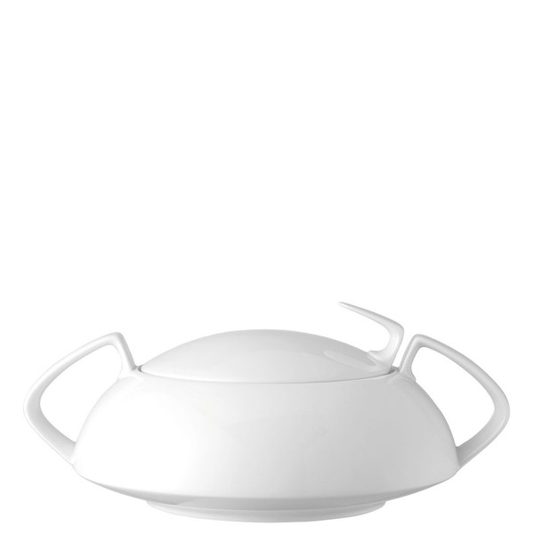Vegetable Bowl, Covered, 54 ounce | TAC 02 White