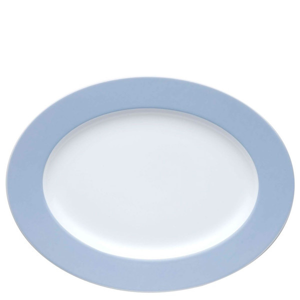 Oval Serving Platter, 13 inch | Sunny Day Pastel Blue
