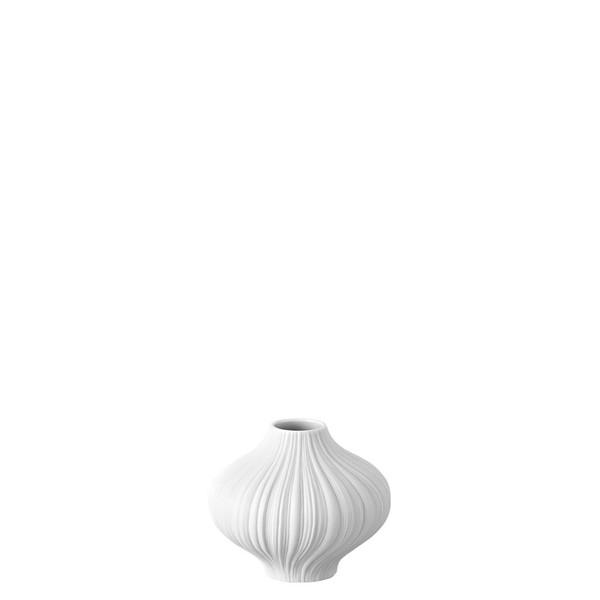 Plissee White matt Mini Vase, 3 inch | Mini Vase