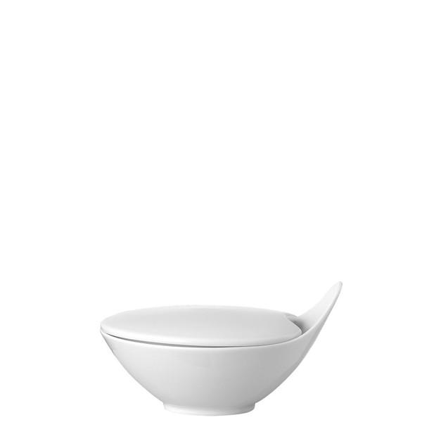 Sugar Bowl, Covered, 5 ounce | Free Spirit White