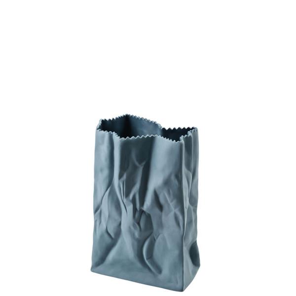 Paper Bag Vase, 7 inch   Bag Vase - Blue (321334)