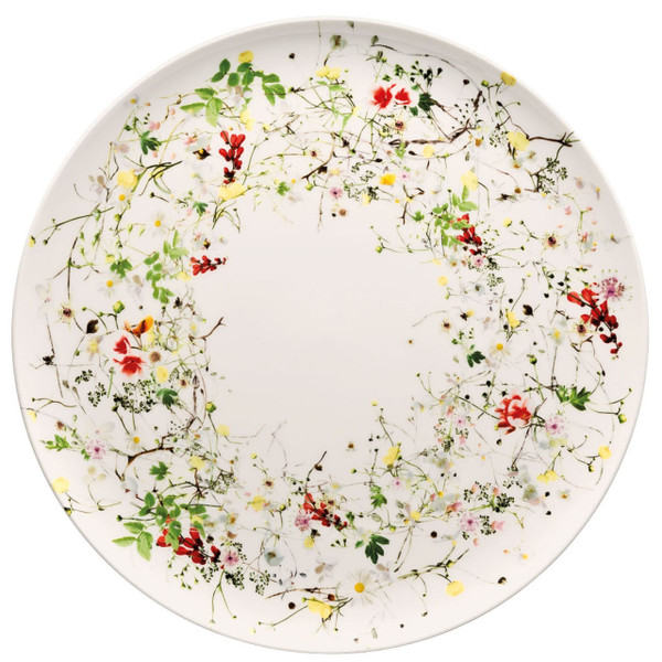 Service Plate, coupe, 12 1/2 inch   Brillance Fleurs Sauvages