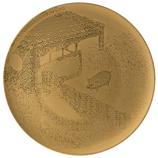 Service Plate, 13 inch | TAC Palazzo RORO Gold