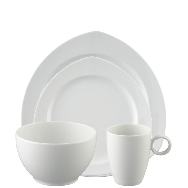 4 Piece Place Setting, Triangle (4 pps) | Thomas Vario White