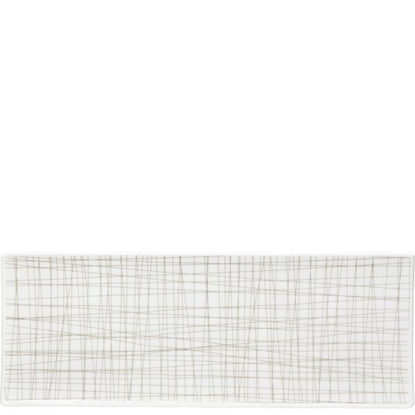 Rectangular Platter, 13 1/2 x 5 inch | Mesh Lines Walnut