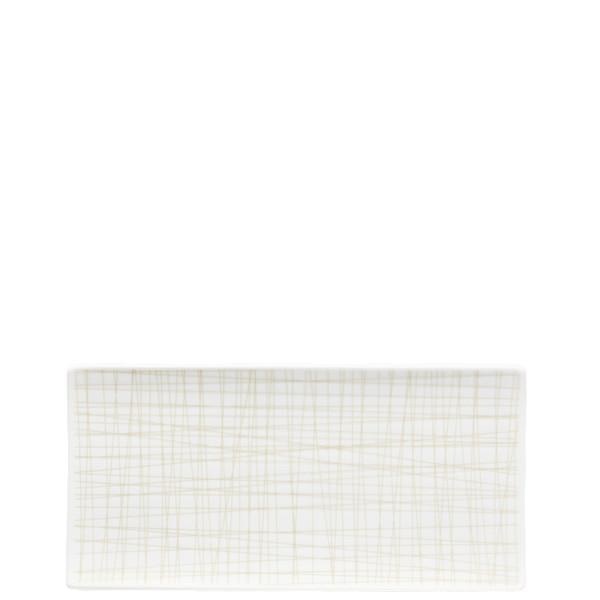 Rectangular Platter, 10 1/4 x 5 inch | Mesh Lines Cream