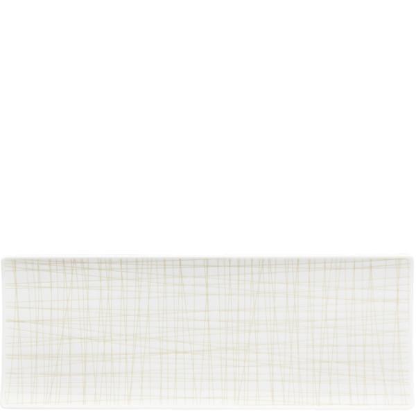 Rectangular Platter, 13 1/2 x 5 inch | Mesh Lines Cream