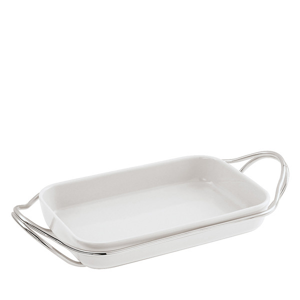 Rectangular Dish in Holder, Silverplated, 16 x 10 1/2 inch | New Living Silverplated