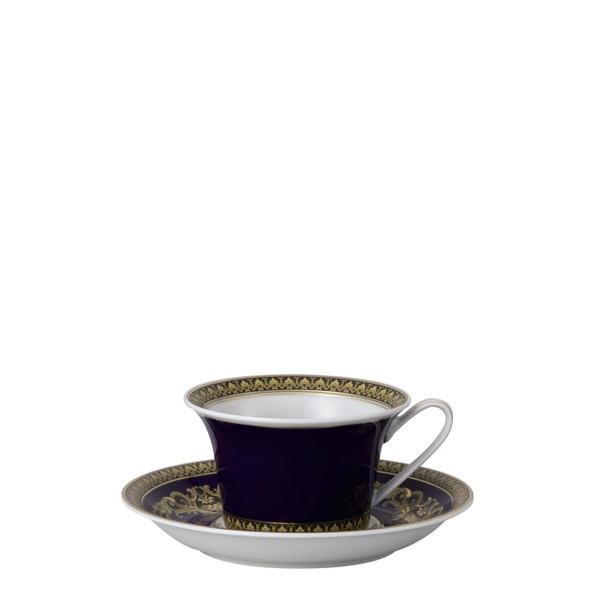 Tea Cup & Saucer, 6 1/4 inch, 7 ounce | Medusa Blue