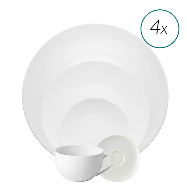 20 Piece Dinner Setting | TAC 02 White