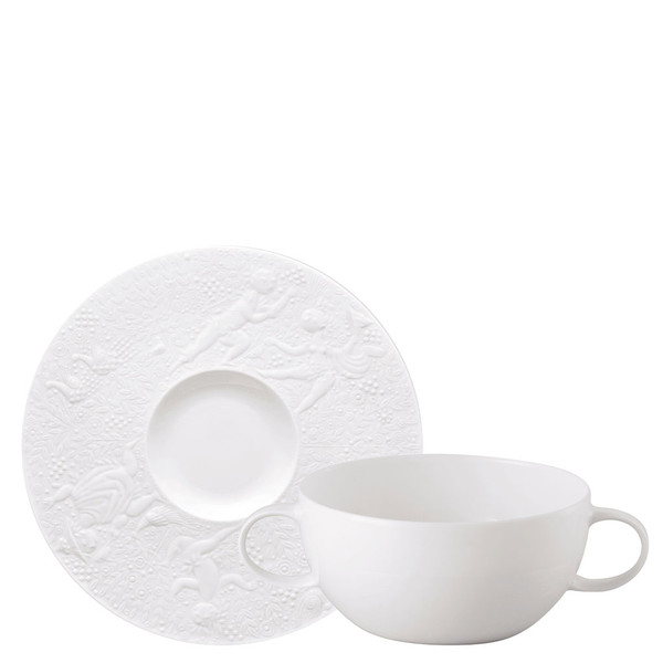 Cream Soup Cup & Saucer, 7 1/4 inch, 12 ounce | Magic Flute White