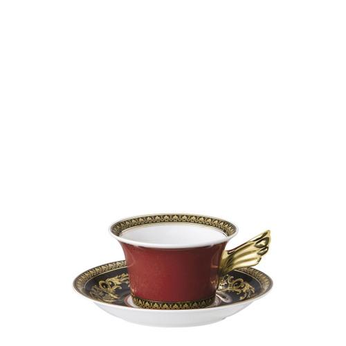 Tea Cup & Saucer, 6 1/4 inch, 7 ounce   Medusa Red