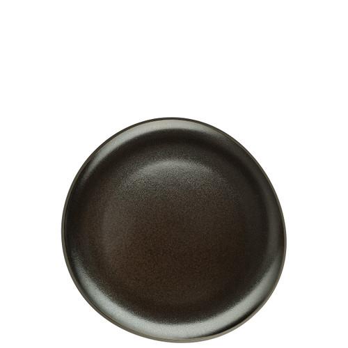 Salad Plate, Flat, Slate Grey, 8 2/3 inch | Junto Stoneware