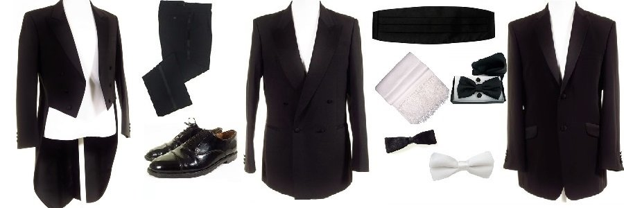 Ex-hire dinner suits