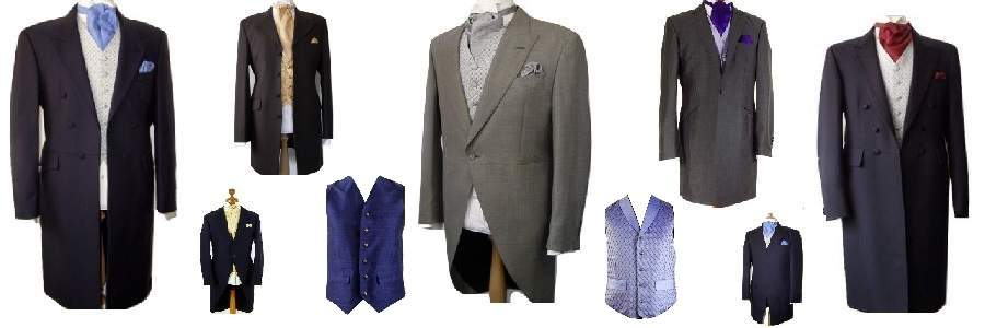 Ex-hire morning suits