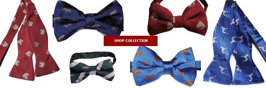 Animal themed silk bow ties