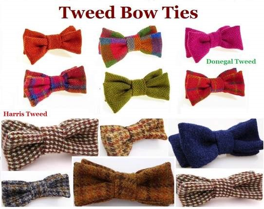 Tweed Bow Ties