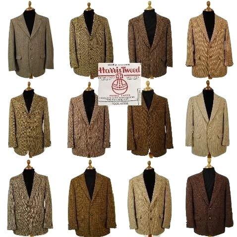 Brown Harris Tweed sport coat