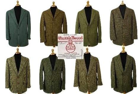 Green Harris Tweed sports jacket