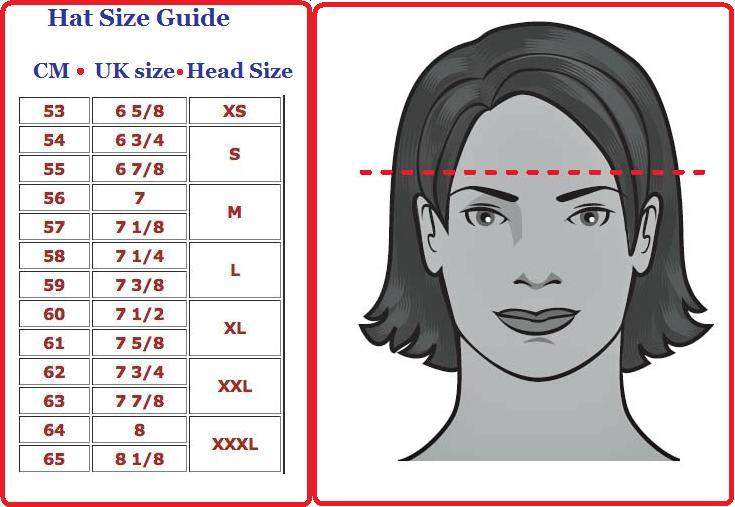 Mens Hat Size Guide