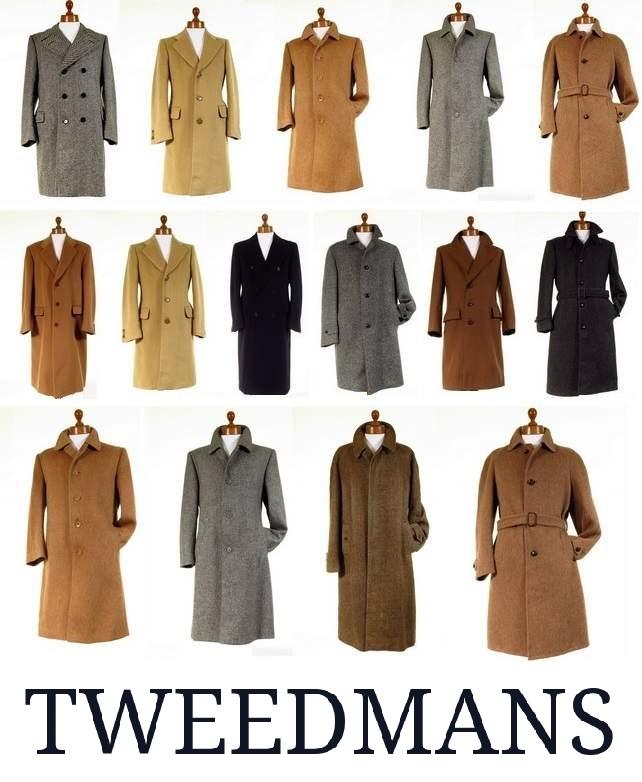 Mens Tweed Overcoat