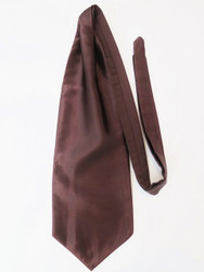 Dark brown wedding cravat