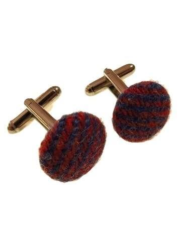Mens tweed cufflinks