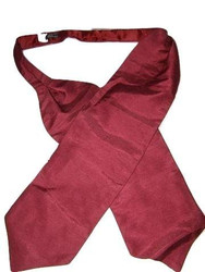 Wedding cravat wine red self tie