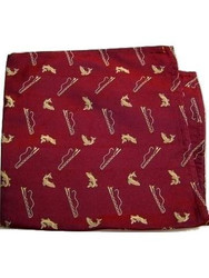 Fishing themed silk pocket square