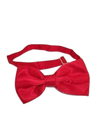 Cherry red bow tie satin