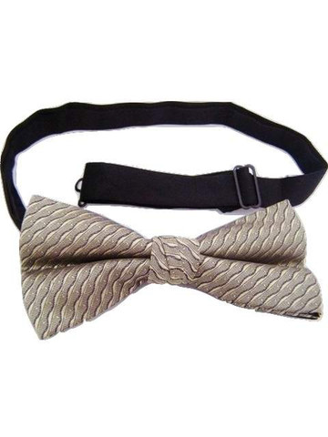 Gold black bow tie