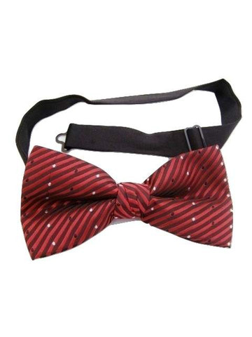 Red black bow tie