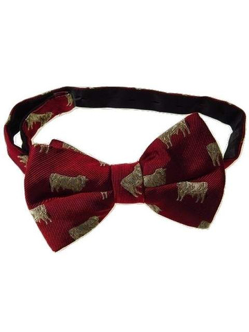 Animal silk bow tie