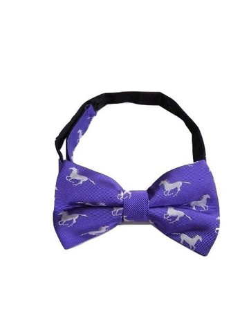 Horse themed silk bow tie